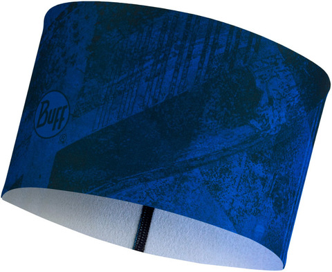 Теплая спортивная повязка на голову Buff Headband Tech Fleece Concrete Blue фото 1