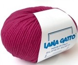 Пряжа Lana Gatto Supersoft 13976 розовая фуксия
