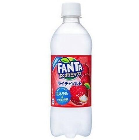 Fanta Lychee+salt Фанта Личи и соль Япония 0,5 л