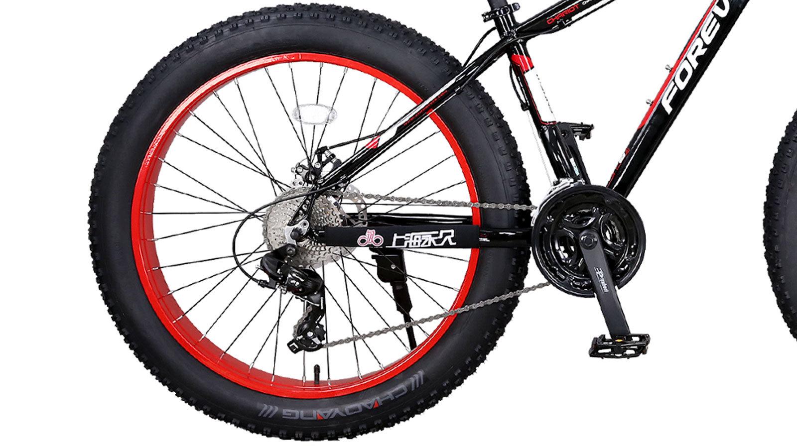заднее колесо и педаль горного велосипеда фэтбайк