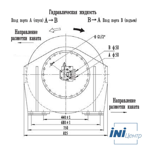Стандартная лебедка IYJ5-90-158-24-ZP