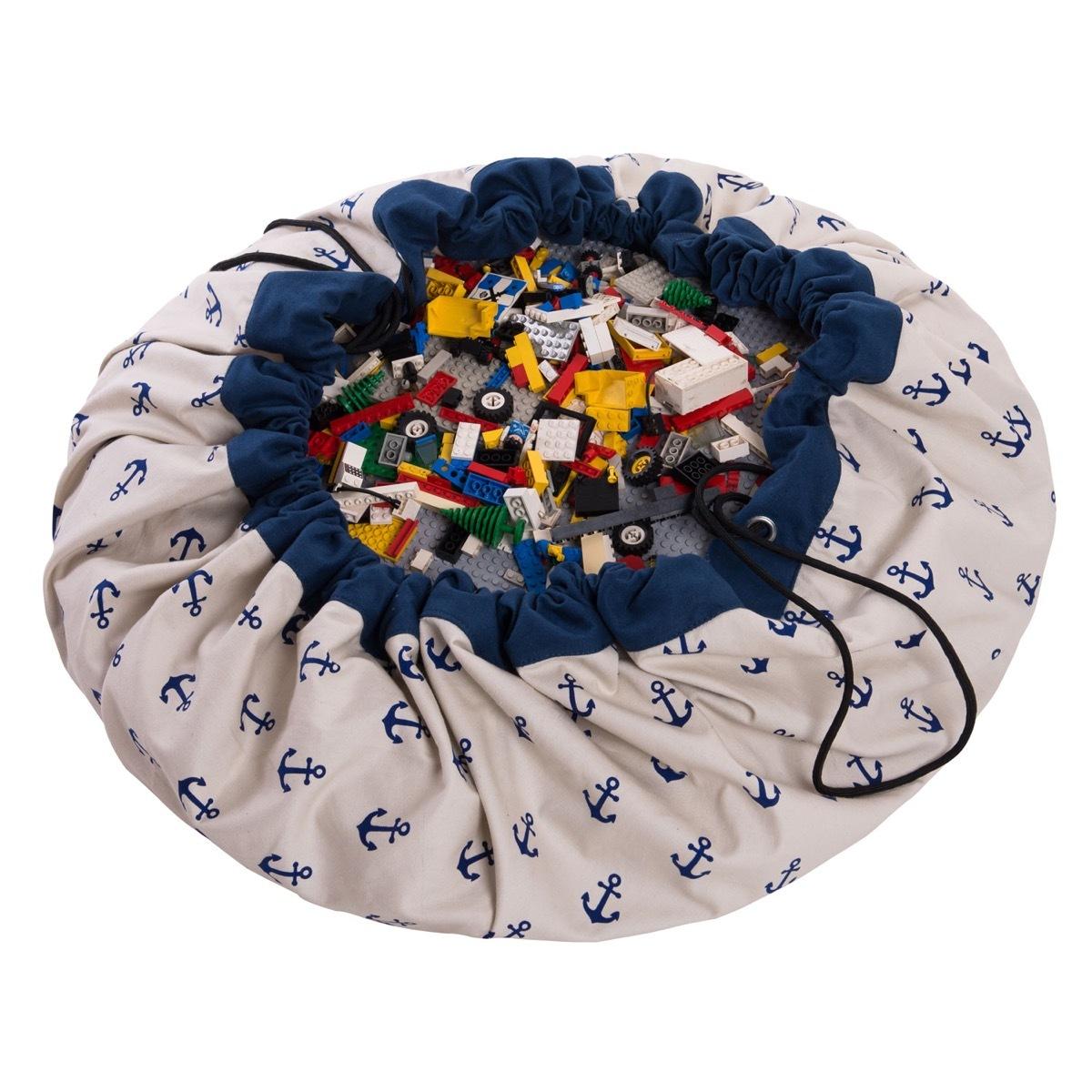 Коврик-мешок для игрушек Play&Go. Коллекция Print. Якоря