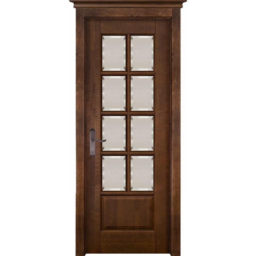 Новинки Межкомнатная дверь массив ольхи ОКА Лондон 1 античный орех остеклённая london-ant-oreh-po-dvertsov-min.jpg
