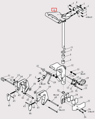 Вал рулевой для лодочного мотора F9.8 Sea-PRO (13-6)