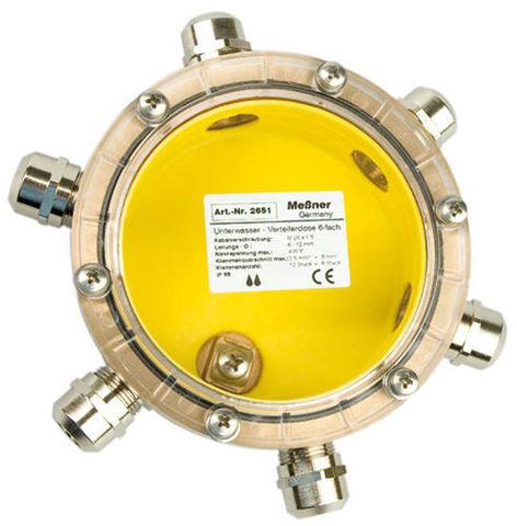 Unterwasser-Verteilerdose 6-fach Подводная клеммная коробка, 6-12 мм