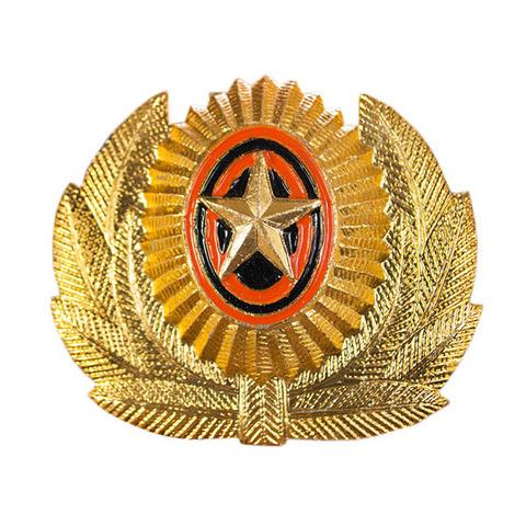 Кокарда со звездой РА в обрамлении золотая