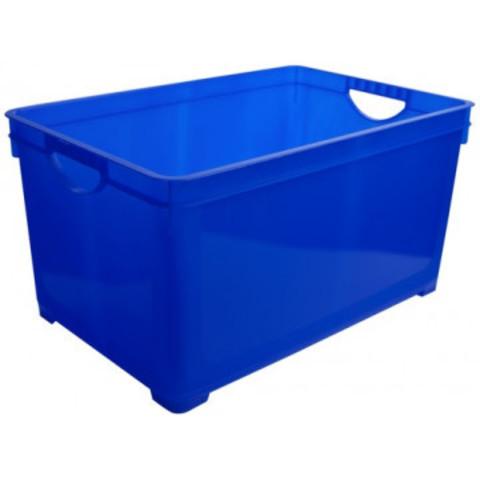 Ящик полипропиленовый синий 385х266х242 мм