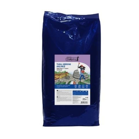Dailydog Adult All Breed сухой корм для взрослых собак всех пород с тунцом, сельдью и рисом, 20 кг.