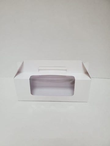 Коробочка для рулета с окном, 27*10*10см, белая