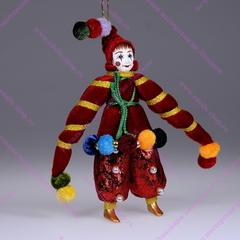 Ёлочная игрушка Клоун в бархатной курточке