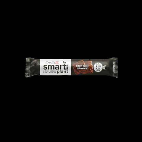 PhD Smart Bar Plant, протеиновый батончик (растительный протеин), вкус Шоколадный брауни, 64 гр.