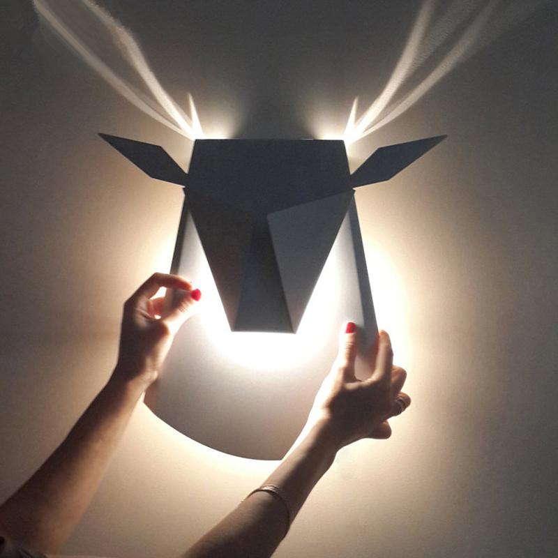Настенный светильник Deer by Light Room (золотой)