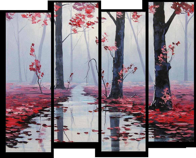 "Природа Модульная картина ""Осенняя река"" М382.png"