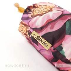 Красивый женский зонтик с розовыми и белыми цветками, Art Rain