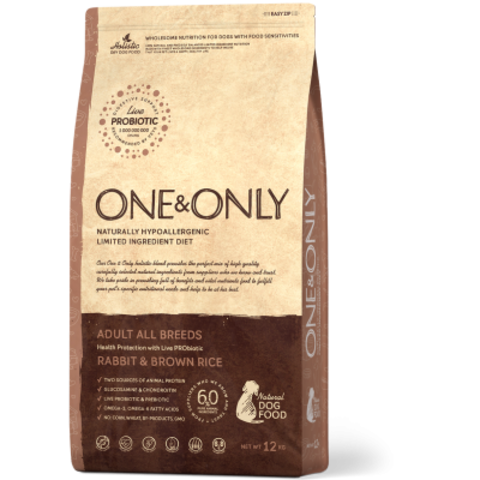 One&Only Rabbit & Brown Rice Adult All Breeds - 12 кг