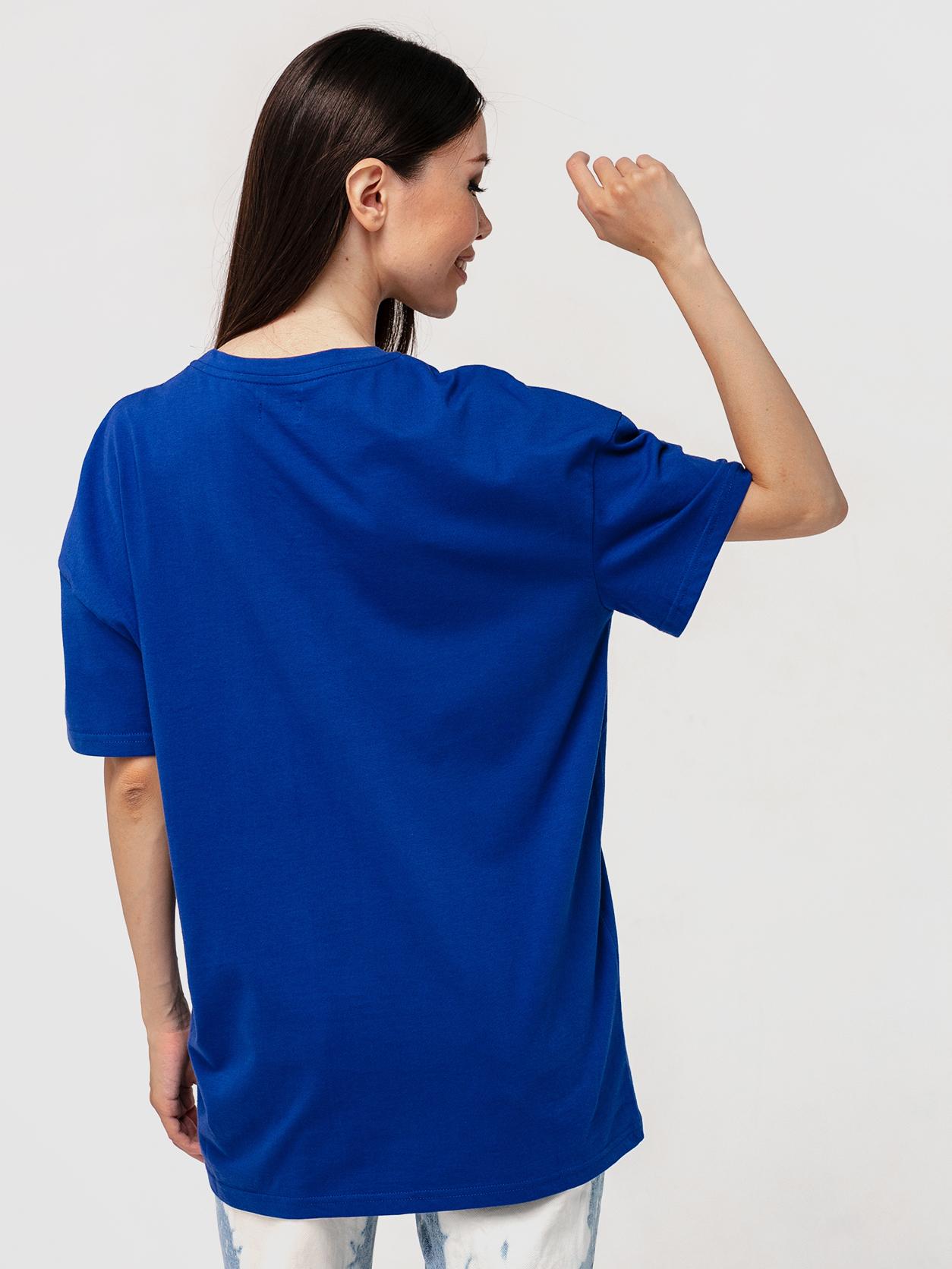 Футболка синяя YOS от украинского бренда Your Own Style