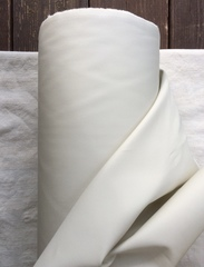 Отрез 0,65м, Габардин с пропиткой, хлопок 100%, цвет Молочный