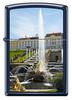 Зажигалка Zippo Петергоф, латунь/сталь с покрытием Navy Matte, синяя, матовая, 36x12x56 мм
