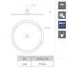 Круглая насадка для верхнего душа RM300 - фото №3