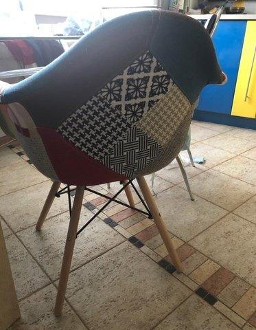 Интерьерное дизайнерское стул-кресло Eamеs Patchwork Multucolor / Пэчворк