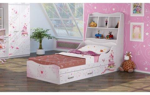 Кровать Принцесса 5 (комплектация 1) с изголовьем 90х190