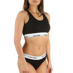 Женский комплект черный топ и стринги Calvin Klein Women Black