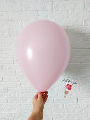 Воздушный шар нежно розовый макарунс