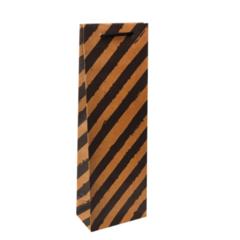 Пакет крафтовый, Стильная полоска, 12x36x8,5 см, 1 шт.