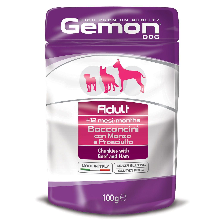 Gemon Пауч для собак Gemon Dog Pouch кусочки говядины с ветчиной 70300605_1.jpeg