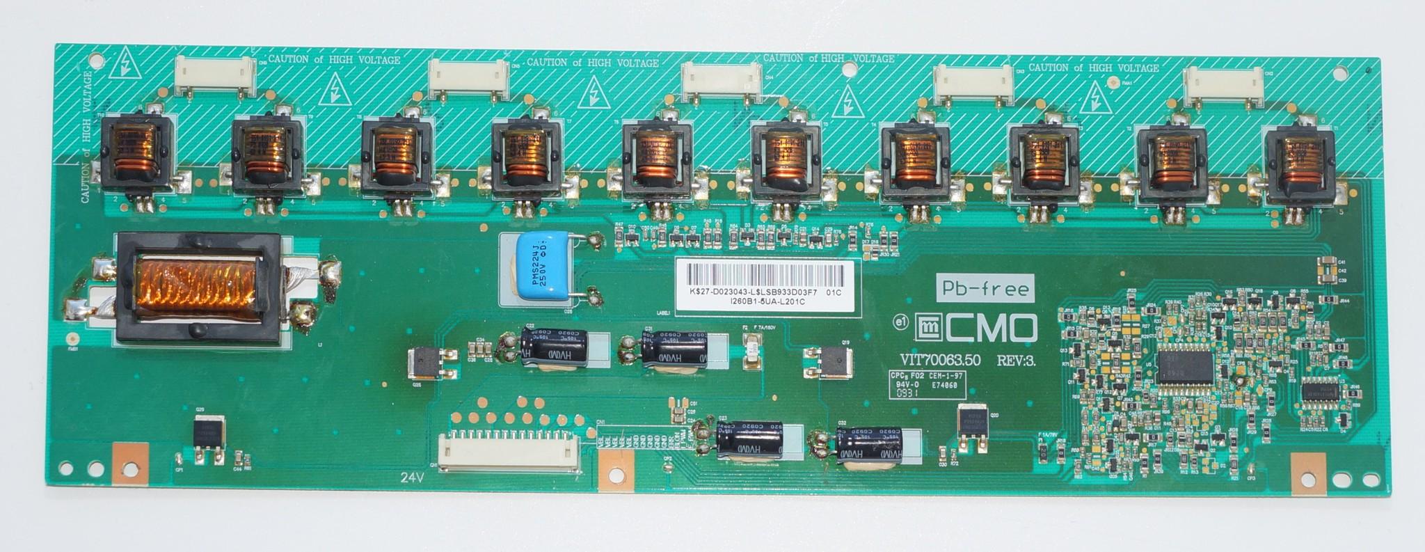 VIT70063.50 rev:3 инвертор телевизора Toshiba