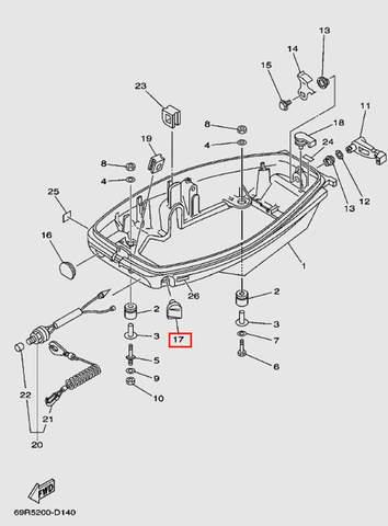 Заглушка для лодочного мотора Т30 Sea-PRO (11-17)