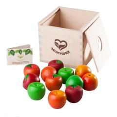 Счетный материал 12 Наливных яблочек - 4 сорта в коробочке