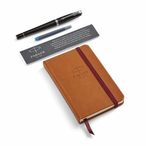 Набор с блокнотом и Перьевая ручка Parker Urban Premium Ebony Metal CT, перо: М123