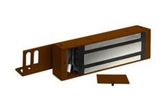 М2-400 Замок электромагнитный с отсеком для контроллера ОЛЕВС (коричневый)