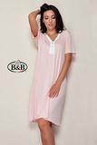 Розовая домашняя сорочка-платье B&B