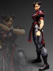 Super Street Fighter IV Play Arts Kai Figure - Chun Li Black