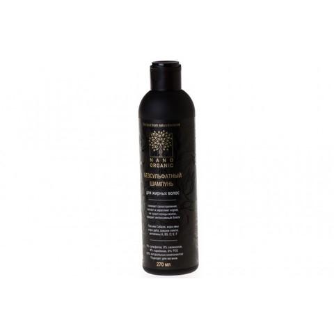 Шампунь для жирных волос, Nano Organic