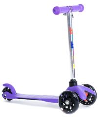 Трехколесный самокат для детей, материал - металл/пластик BIBITU  JAY SKL-06L фиолетовый