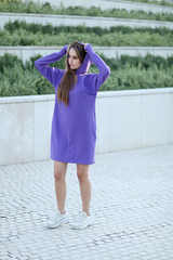 Фиолетовое худи оптом
