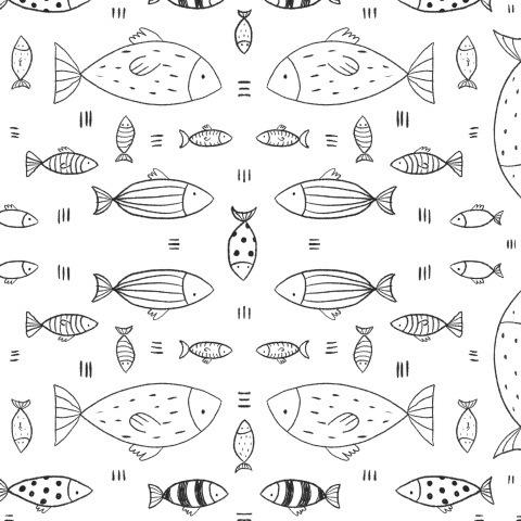 Рыбки сканди (белый фон)