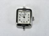 Основа для часов, металлическая, 32x22 мм, посеребренная, 1 шт.