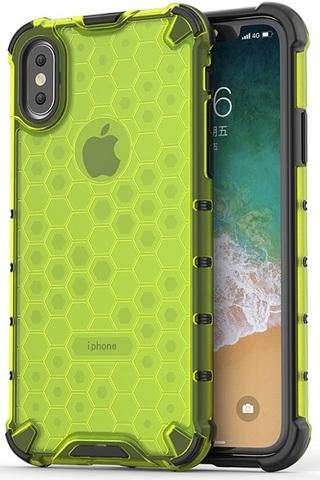 Чехол зеленого цвета на телефон iPhone X и XS, ударопрочный  от Caseport, серия Honey