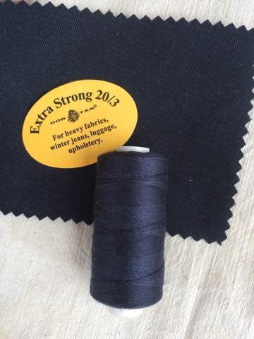 Нитки джинсовые Dor Tak Extra Strong, 425, Черно-синий