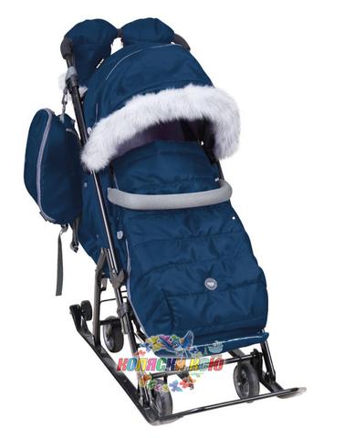 Санки-коляска «Ника детям» 7-5S Синие