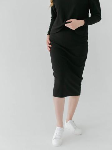 Юбка-миди «Черный агат»