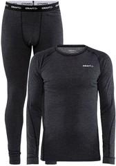 Комплект термобелья Core Wool Merino Set M black melange с шерстью мериноса