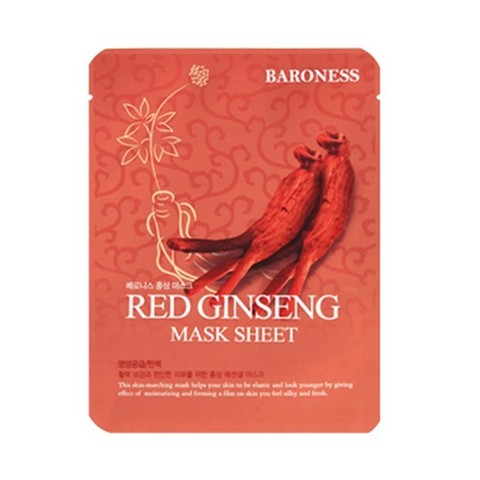 Baroness Mask Sheet RED GINSENG Маска тканевая с красным женьшенем