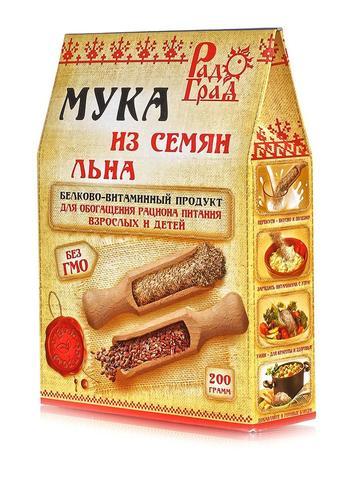 Мука из семян льна, 200 гр. (Радоград)