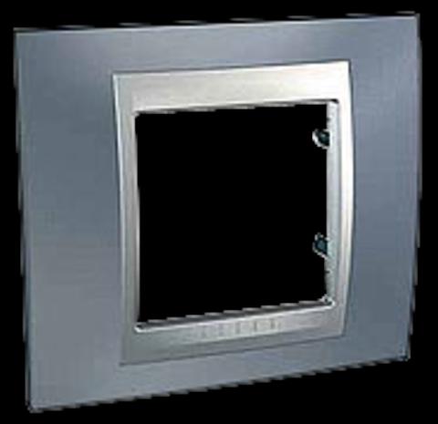 Рамка на 1 пост. Цвет Грэй-алюминий. Schneider electric Unica Top. MGU66.002.097