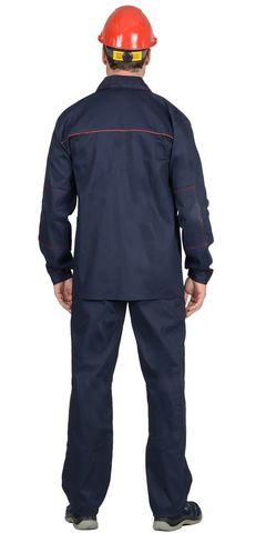 Костюм куртка, брюки синий с красным кантом 100% хлопок